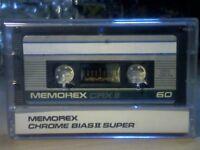 MEMOREX CRX II 60 CHROME CASSETTE TAPES (1987-1988)