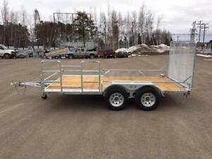 "NEW 2018 K-TRAIL 72"" x 12' GALVANIZED TWIN RIDER TRAILER"
