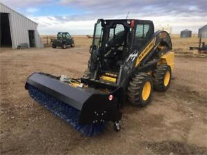 """New Rotary Broom Skid Steer Attachment 60"""", 72"""", 84"""""""