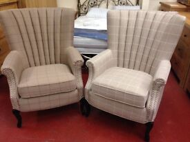 New Fireside Armchairs from £239 in fabric & faux leather