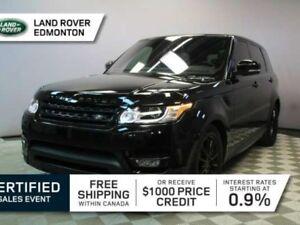 2016 Land Rover Range Rover Sport V6 SE - CPO 6yr/160000kms manu