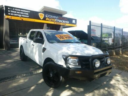 2011 Ford Ranger PX XL Double Cab 4x2 White 5 Speed Manual Utility