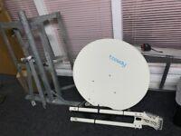 Tooway satellite dish & stand for satellite internet