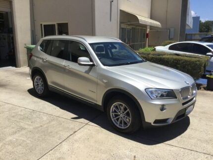 2012 BMW X3 F25 xDrive 30D Silver 8 Speed Automatic Wagon