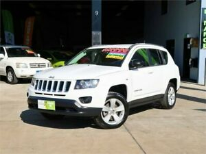 2014 Jeep Compass MK MY14 Sport CVT Auto Stick White 6 Speed Constant Variable Wagon Slacks Creek Logan Area Preview
