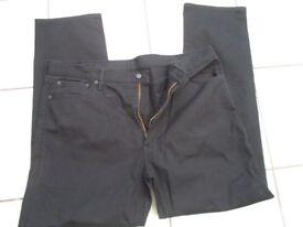 """mens levi strauss 541 jeans size 42""""W 34""""L black new unused"""