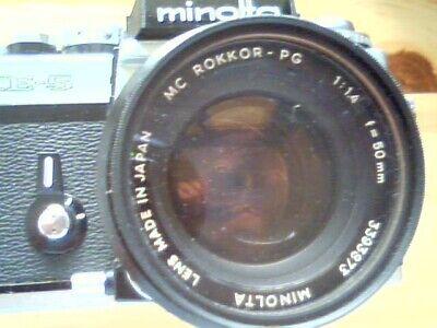 Schnäppchen -  Minolta XE-5 Body und Ojektiv MC ROKKOR - PG  1:1.4  f=50 mm
