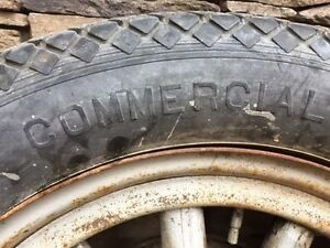 Vintage Dodge Truck Tire and Wood Rim Peterborough Peterborough Area image 4