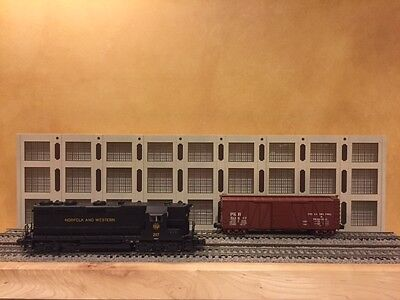 """O Scale Layout 3-Story Concrete Warehouse Shadow Box 3-Piece 36"""" Long for sale  Shipping to Canada"""