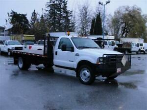 2002 FORD F-550 SUPER DUTY XL FLAT DECK DUALLY 4X4 DIESEL