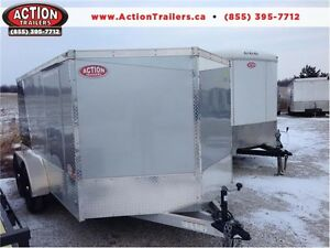 RENTAL 7 X 12 ENCLOSED ALUMINUM CARGO $74.99 GREAT FOR TWO BIKES