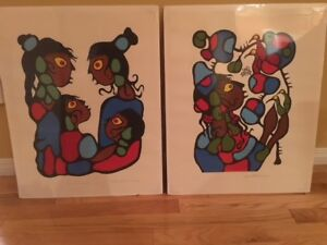 2 Norval Morrisseau Original Lithographs Signed/Numbered 36/195