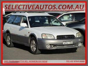 2000 Subaru Outback MY00 White 4 Speed Automatic Wagon Homebush Strathfield Area Preview