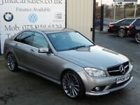 MERCEDES-BENZ C CLASS C200 CDI SPORT 4d AUTO 135BHP (FINANCE & WARRANTY (silver) 2009