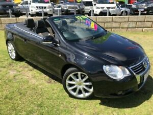 2007 Volkswagen EOS 1F TDI DSG Black 6 Speed Sports Automatic Dual Clutch Convertible Wangara Wanneroo Area Preview
