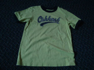 Boys Size 7 OshKosh B'Gosh Neon Green Short sleeve T-Shirt