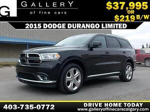 2015 Dodge Durango Limited $219 BI-WEEKLY APPLY NOW DRIVE NOW