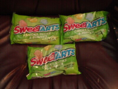 3 Bags! SWEET TARTS Chicks, Ducks and Bunnies Hard Candy EACH BAG 12OZ ](Sweet Tarts Candy)