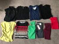 Bundle size 12 (10 items) 3 skinny jeans, 1 cropped jeans, 6 tops (Phase Eight, Wallis, Oasis etc.)