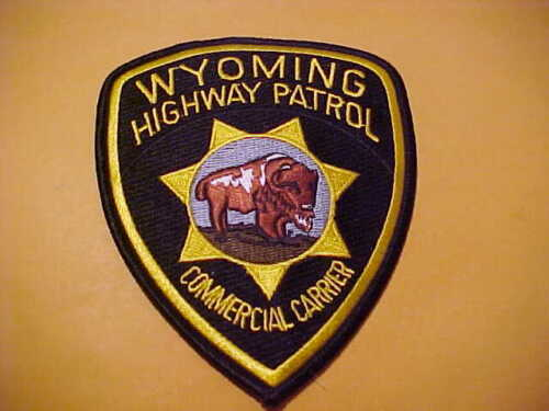 WYOMING HIGHWAY PATROL COMMERCIAL CARRIER POLICE PATCH SHOULDER SIZE UNUSED