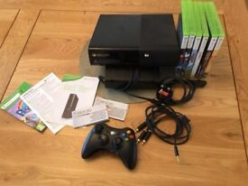 Xbox 360 console and 6 games
