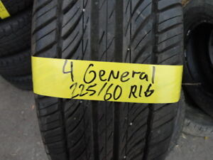 4 TIRE GENERAL ATREZZO 225/60/R16 GOOD SHAPE 90% TREAD