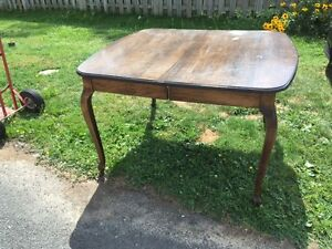 vintage Solid wood dining table and Four chairs REDUCED