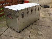 vintage aluminium trunks