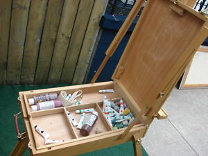 Artists' Paint kit with stand some paint Sarnia Sarnia Area image 3