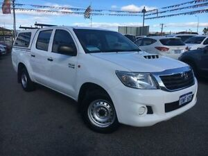 2012 Toyota Hilux KUN16R MY12 SR Glacier White 5 Speed Manual Dual Cab Pick-up Maddington Gosnells Area Preview