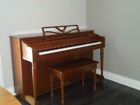 Piano with matching bench