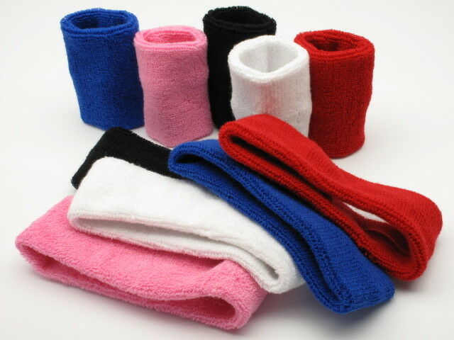 Cartwheels Cotton Sweatband Set 2 x Wristbands 1 x Headband