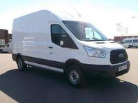 Ford Transit T350 LWB HIGH ROOF VAN TDCI 125PS DIESEL MANUAL WHITE (2014)