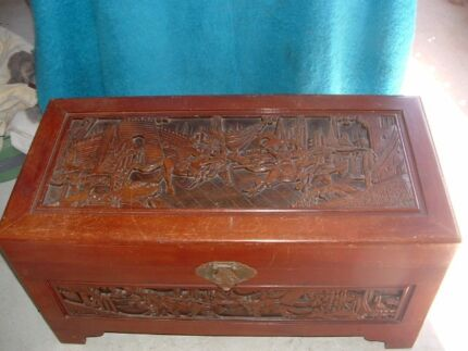 OLD CAMPHOR CHEST, UNUSUAL CARVINGS, Kippa-ring Redcliffe Area Preview