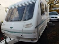Sterling Europa 470/2 2001 model 4 berth caravan + lots of extras full Awning + Remote Motor Mover.