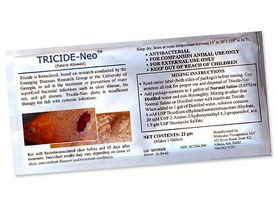 Tricide Neo Antibiotic Dip For Koi Fish Ulcer Tricide Neo