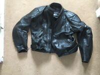 Biker Leather motorbike Jacket. 44inch heavy duty