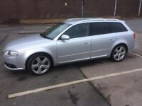 Audi A4 Avant S-Line TDI 2007 Silver Diesel. Up to date MOT & Service/history, Currently SORN