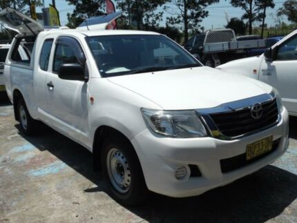 2012 Toyota Hilux GGN15R MY12 SR White 5 Speed Automatic X Cab Pickup Homebush West Strathfield Area Preview