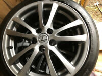 """Lexus 18"""" Alloys and all weather tyres"""