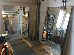 Large mirrors (for gym or dance room)