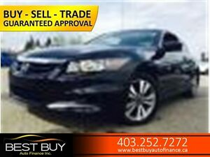 2011 Honda Accord Cpe EX-L  * LEATHER * SUN ROOF * BLUE TOOTH  *
