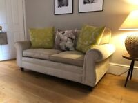 laura ashley 2 seater sofa in soft gold VG condition very comfortable