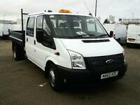 Ford Transit T350 D/CAB 100PS TIPPER CREW DIESEL MANUAL WHITE (2014)