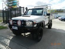 2008 Toyota Landcruiser VDJ79R Workmate (4x4) White 5 Speed Manual Williamstown North Hobsons Bay Area Preview