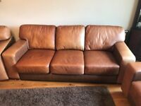 Leather Suite - Three Piece. Two chairs & Three seater Sofa