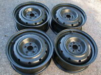 "LIKE NEW SET OF 4,16"" STEEL RIMS 5 x100MM,LESS THAN 5,000 KM"