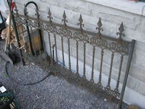 Victorian iron fence section