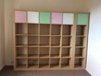 Shelving unit (IKEA KALLAX) 5x5 unit and 1x5 unit both in good condition
