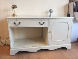 Shabby chic sideboard (solid wood) £38 ONO
